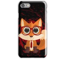 Fox Nerd - Red Splash iPhone Case/Skin