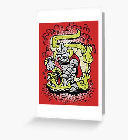 Kaiju Killer Greeting Card