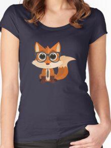 Fox Nerd Women's Fitted Scoop T-Shirt