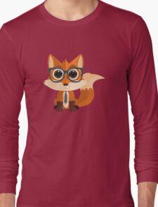 Fox Nerd Long Sleeve T-Shirt