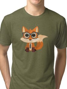 Fox Nerd Tri-blend T-Shirt