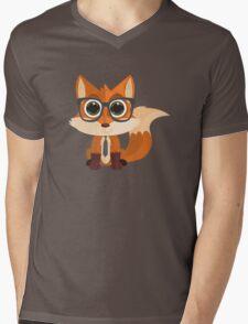 Fox Nerd Mens V-Neck T-Shirt