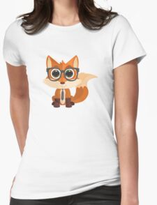 Fox Nerd Womens Fitted T-Shirt