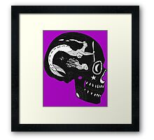 Aviation Mechanic - Day of the Dead Black and White Negative Framed Print