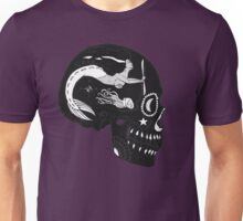 Aviation Mechanic - Day of the Dead Black and White Negative Unisex T-Shirt
