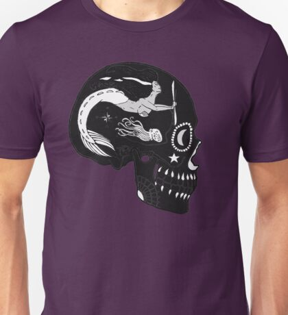 Navy AD - Day of the Dead Black and White Negative Unisex T-Shirt