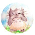 Totoro- Watercolors! by jooweeuh