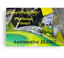 Automotive BLING Challenge Winner Banner Canvas Print