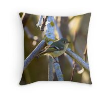 Ruby-crowned Kinglet Throw Pillow