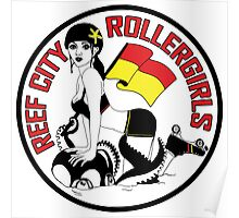 Reef City Roller Girls - Posters & Cards Poster