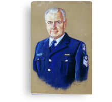 Portrait of Senior Sergeant Greg Quillinan Canvas Print