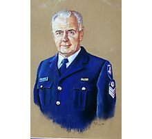 Portrait of Senior Sergeant Greg Quillinan Photographic Print