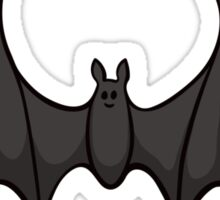 Black cartoon bat sticker Sticker