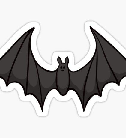 Black cartoon bat sticker Sticker