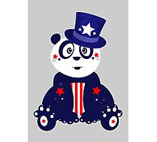 Patriotic Panda Photographic Print