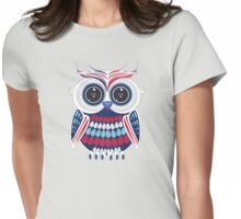 Patriotic Owl Womens Fitted T-Shirt