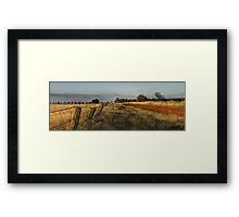 Back road to Parkes Radio Telescope NSW Framed Print