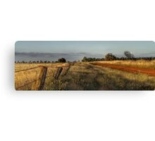 Back road to Parkes Radio Telescope NSW Canvas Print
