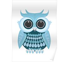 Baby Blue Owl Poster