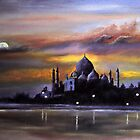 Taj Mahal at Sunset by Ian Morton