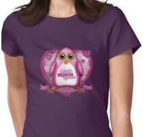Valentine Loved - Pink Penguin Womens Fitted T-Shirt