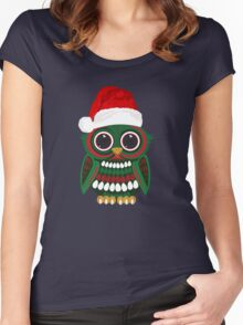 Christmas Owl Women's Fitted Scoop T-Shirt