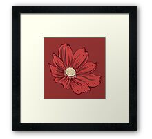 Reddish Flower Framed Print