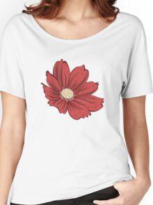 Reddish Flower Women's Relaxed Fit T-Shirt