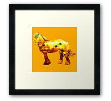 Jupiter horse Framed Print