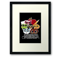 Nerd 3 - Black Framed Print