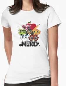 Nerd 3 Womens Fitted T-Shirt