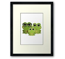 Frog Family Framed Print