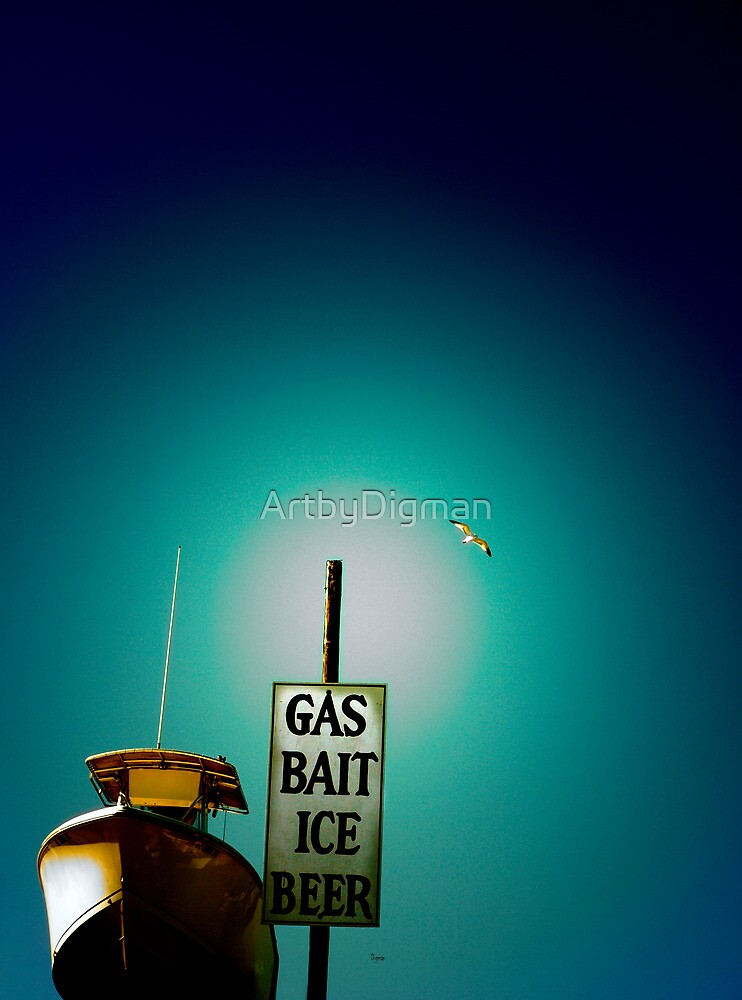 GAS BAIT ICE BEER by ArtbyDigman
