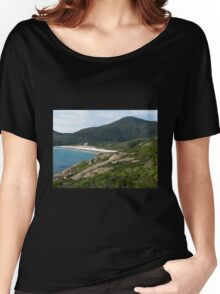 View to Squeaky Beach from Tidal Overlook Women's Relaxed Fit T-Shirt