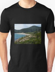 View to Squeaky Beach from Tidal Overlook Unisex T-Shirt