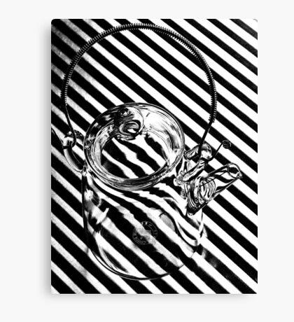 Zebra teapot Canvas Print