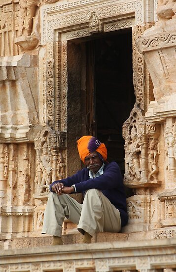 Tower Guard, Chittorgarh, Rajasthan, India by RIYAZ POCKETWALA