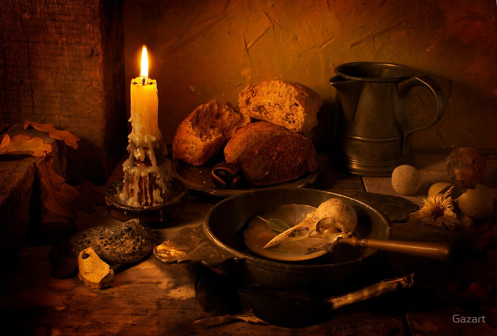 An Earthly Meal by Candlelight by Gazart