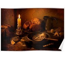 An Earthly Meal by Candlelight Poster
