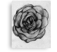 Charcoal Rose Canvas Print