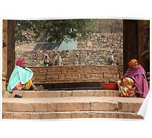 Chittorgarh Vendors, Rajasthan, India Poster