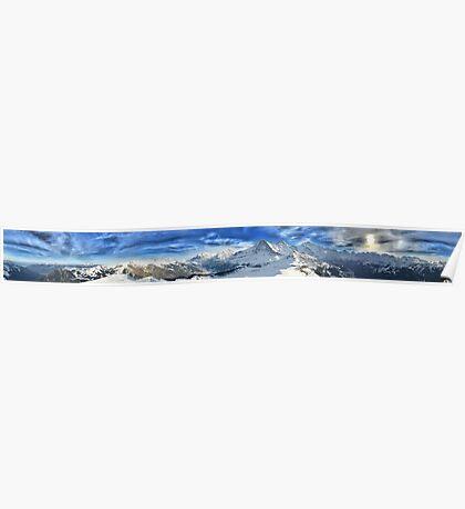 HDR Panoramic - Mannlichen, Switzerland Poster
