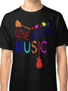 LOVE ROCK MUSIC  Classic T-Shirt