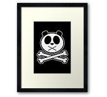 Panda Cross Bone 2 Framed Print