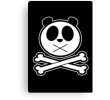 Panda Cross Bone 2 Canvas Print
