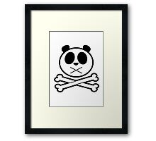 Panda Cross Bone Framed Print