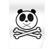 Panda Cross Bone Poster
