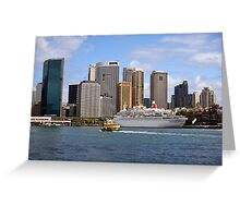 cruise ship moored in sydney harbour Greeting Card