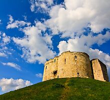 York's Clifford's Tower in Spring by Gerson Galang