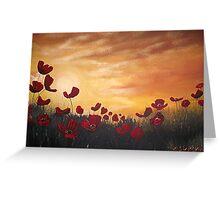 Poppy Field at Dusk Greeting Card